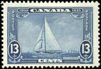 Mint H Canada 1935 F+ Scott #216 13c (MARK IN RT 3) Silver Jubilee.Stamp