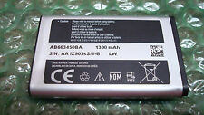 Samsung Rugby II sgh a847 Cell Phone Battery Model AB663450BA BZ, AB663450BABSTD