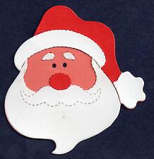 Die CUT Santa tête découpage Kit rend 3 Père Noël SIZZIX noël 9.5 x9cm