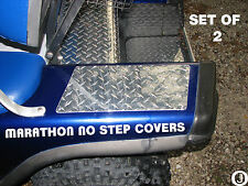 Ezgo Marathon Golf Cart Highly Polished Diamond Plate NO STEP COVERS