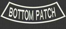 1 Custom Embroidered Bottom Rocker Name Patch Back Biker Motorcycle Tag Badge 12