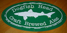 DOGFISH HEAD BREWING promo METAL TACKER SIGN craft beer brewery 60 90 minute IPA