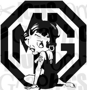 Betty Boop mg  girls girly vinyl mg car sticker novelty funny decals side bonnet