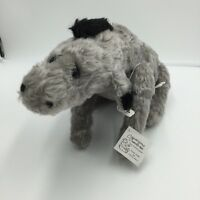 """Capricious Creatures Eeyore Claire Herz Plush Jointed Stuffed 12"""" Pooh Animal"""