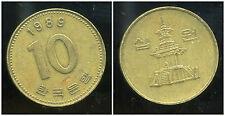 COREE DU SUD  10 won  1989