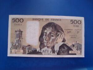 500   FRANCS   PASCAL  1985    O 223