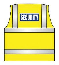 SECURITY Hi VIs Vest - Blue & White Print -All Sizes - Hi Viz Waistcoat