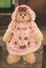 Teddy Bear 'Zoe' Settler Bears Handmade Pink Dress Gift Collectable 38cms NEW