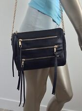 BRAND NEW black hand bag with gold zips leather look with gold chain strap