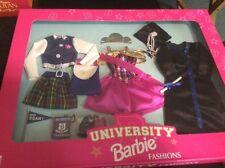1998 Mattel Barbie University Fashions Blue Clothes Outfits Graduation New NIB
