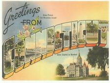 """*Connecticut-""""Greetings...From Connecticut  {Postcard} (N25)"""
