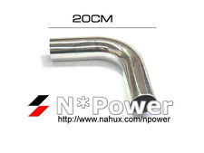 "90 DEGREE 2.5"" SHORT LEG POLISHED ALLOY ALUMINUM BEND INTAKE PIPE INTERCOOLER"