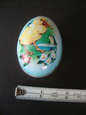 Vintage Tin Easter Egg: Adorable tin lithographed egg for candy
