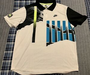 Nike Challenge Court NikeCourt Advantage Tennis Polo Agassi CK9793-101 XL