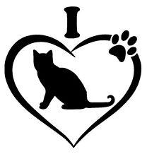 I Love My Cat Vinyl Decal Sticker Car Window Laptop Wall 15 Colors