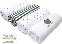 Moltontücher blanc 80x80cm 2er pack 100/% coton à langer support spucktuch top