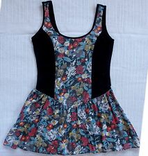 MINKPINK Black & Floral Sleeveless Summer Dress, Size M