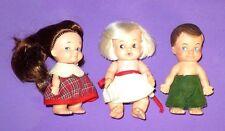Vintage 1965/67 Uneeda Pee-Wees Dolls Set Of 3 Very Nice
