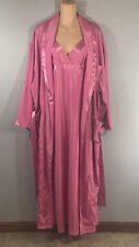 Victoria's Secret Long Gown and Robe Set Pink Size XL Beautiful Set!