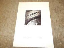 REVOX B77 B795 B261 B740 B780 original vintage Catalogue
