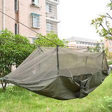 Persona DOBLE de viaje para aire libre para Deporte Camping Tienda Colgante Hamaca Cama Mosquito Net