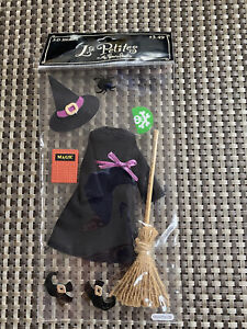 New La Petites Dimensional Stickers Witch Broom Spells Halloween