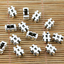 48pcs tibetan silver plated #symbol note spacer bead EF1587