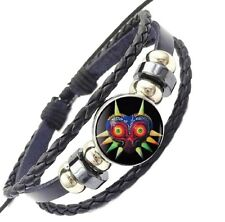 Glass Domed Braided Leather Bracelet The Legend Of Zelda Majora's Mask