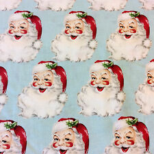 RPFJAG20 Retro Jolly Santa Claus Christmas Holiday Winter Cotton Quilt Fabric