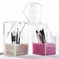 Makeup Brush Holder Dustproof Plastic Maquillage Tool Case Storage Box Organizer