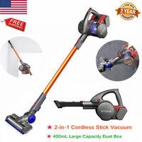 2 in 1 Cordless Handheld Vacuum Cleaner Stick HEPA Filter Carpet Floor Clean US