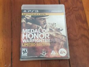 PS3 Medal Of Honor Warfighter Limited Edition Video Game Disc Manual Pre-Owned