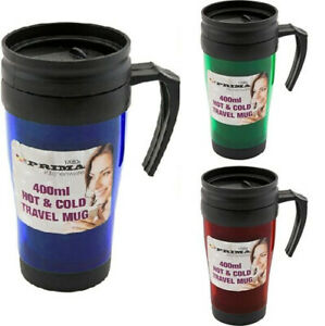 Personalised Hot & Cold Travel Mug / Flask Tea, Coffee, Gift 400ml etc