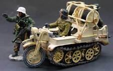 KING & COUNTRY WW2 GERMAN ARMY WS081 KETTENRAD MOTORCYCLE SET WINTER