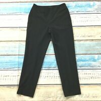 "Talbots Womens Pants size 4P 4 Petite Black Slim Ankle Cropped x27"" insm Stretch"