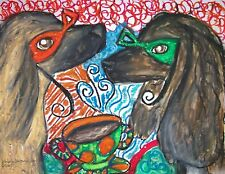 New listing Afghan Hound Masquerade Art Print 8x10 Dog Collectible by Kimberly Helgeson Sams