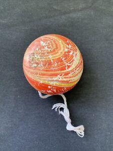 Vintage Marbled Wooden Yo Yo Painted Wood Yo-Yo