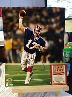 JIM KELLY   SIGNED AUTOGRAPHED BUFFALO BILLS 8X10 PHOTO WITH COA