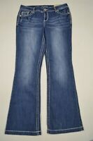 NEW Maurices 13 / 14 Long Boot Cut Dark Wash Stretch Denim Jeans