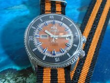 381fb1842ce Orient King Diver Antigo Cal 1942 2 Janelas Orange Nf Raro
