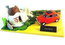 FIAT 500R EDICOLA 1/43 DIECAST CAR COLLECTOR'S MODEL WITH DIORAMA+SHOWCASE, NEW