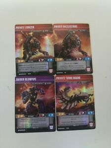 Transformers Trading Card Game Battlemasters Lot
