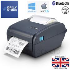 More details for thermal label printer 4x6 150x100mm bluetooth windows & mac royalmail hermes 6x4