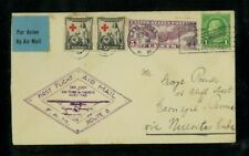 Puerto Rico 1931 First Flight Cover Fam F6-124 San Juan to Nuevitas, 1Cuba