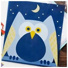 20x Owl Hoot Self Adhesive Bags Cookies Lolly Loot Bag Macoron Giggle Baby 1st
