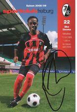 Eke Uzoma  SC Freiburg  2008/2009 Autogrammkarte signiert  362131