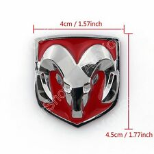 Red Head Grill Tailgate emblème d'insigne Chromed Metal Pour Dodge Ram