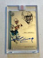 EARL CAMPBELL 2018 Panini Elements SILVER BLUE INK SP AUTO 15/15! 1/1! INVEST!