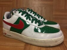 RARE🔥 Nike Air Force 1 Premium MEXICO World Cup 9.5 309096-162 White Pine Red
