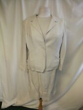 """Ladies Dress Suit ivory linen blend fitted, bust 36"""", hips 36"""", custom made 0925"""